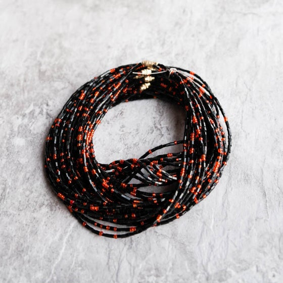 Image of Black and Orange Waistbead