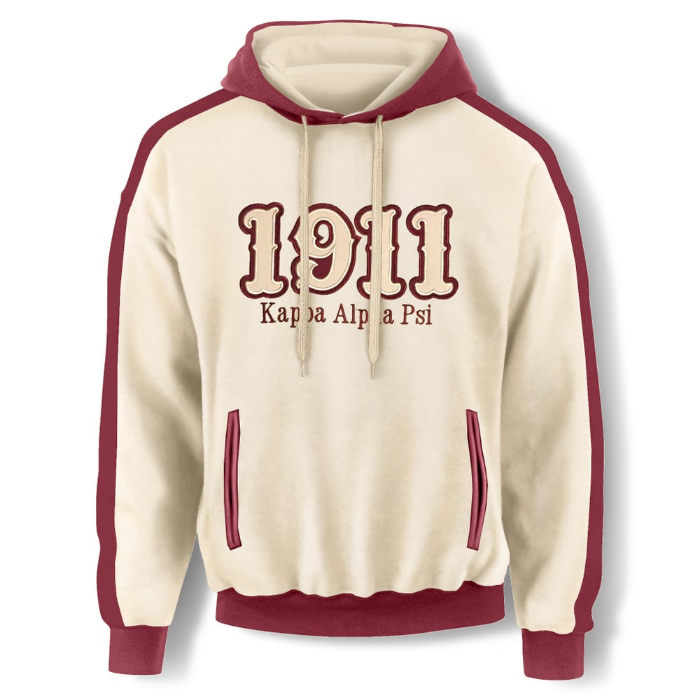 Image of Cream Hooded Sweatshirt - 1911