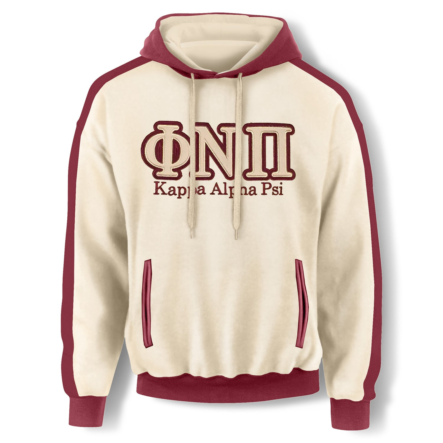 Image of Cream Hooded Sweatshirt-ΦNΠ