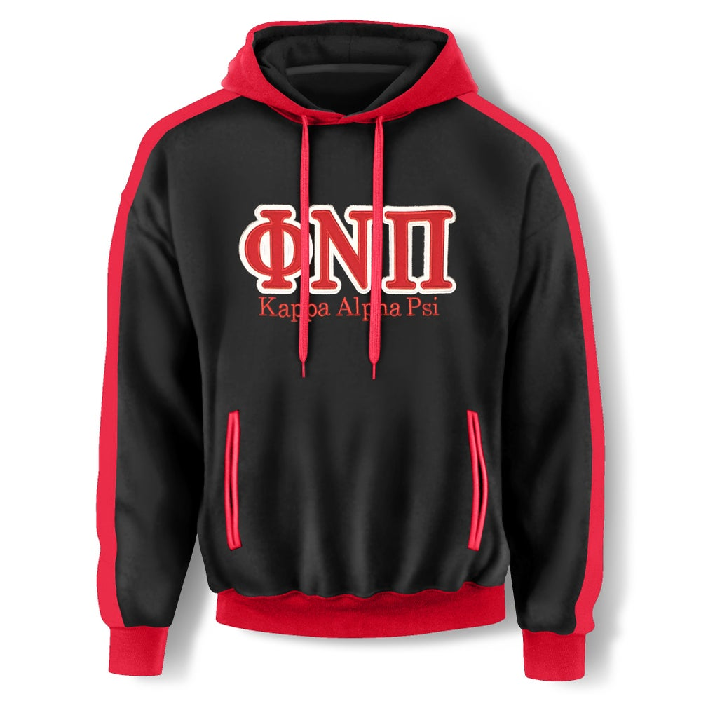 Image of Black Hooded Sweatshirt - ΦNΠ