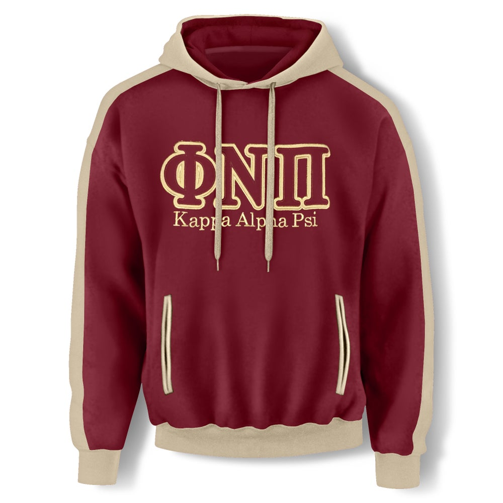 Image of CRIMSON HOODED SWEATSHIRT - ΦNΠ