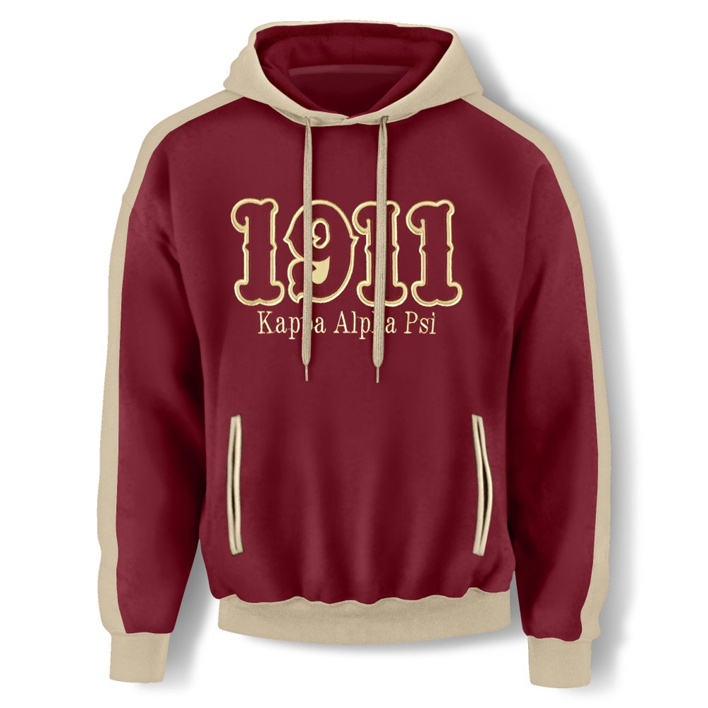 Image of CRIMSON HOODED SWEATSHIRT - 1911