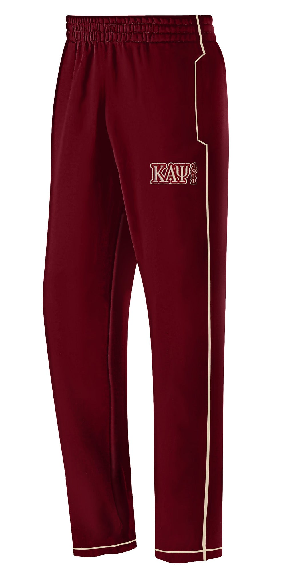 Image of Track Pants (Thin Stripe) - Crimson