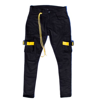 YELLOW WEBBING CARGO PANT - Sean + Kelly