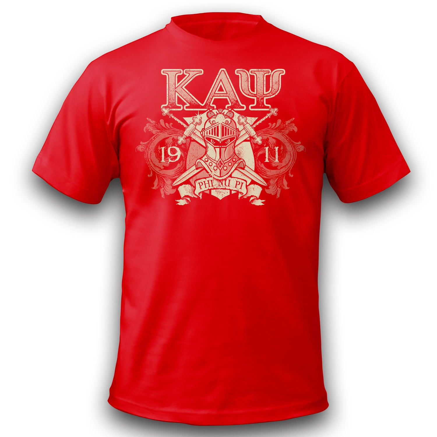 Image of Invictus T-Shirt Red Discharge Print !!CLOSEOUT!!