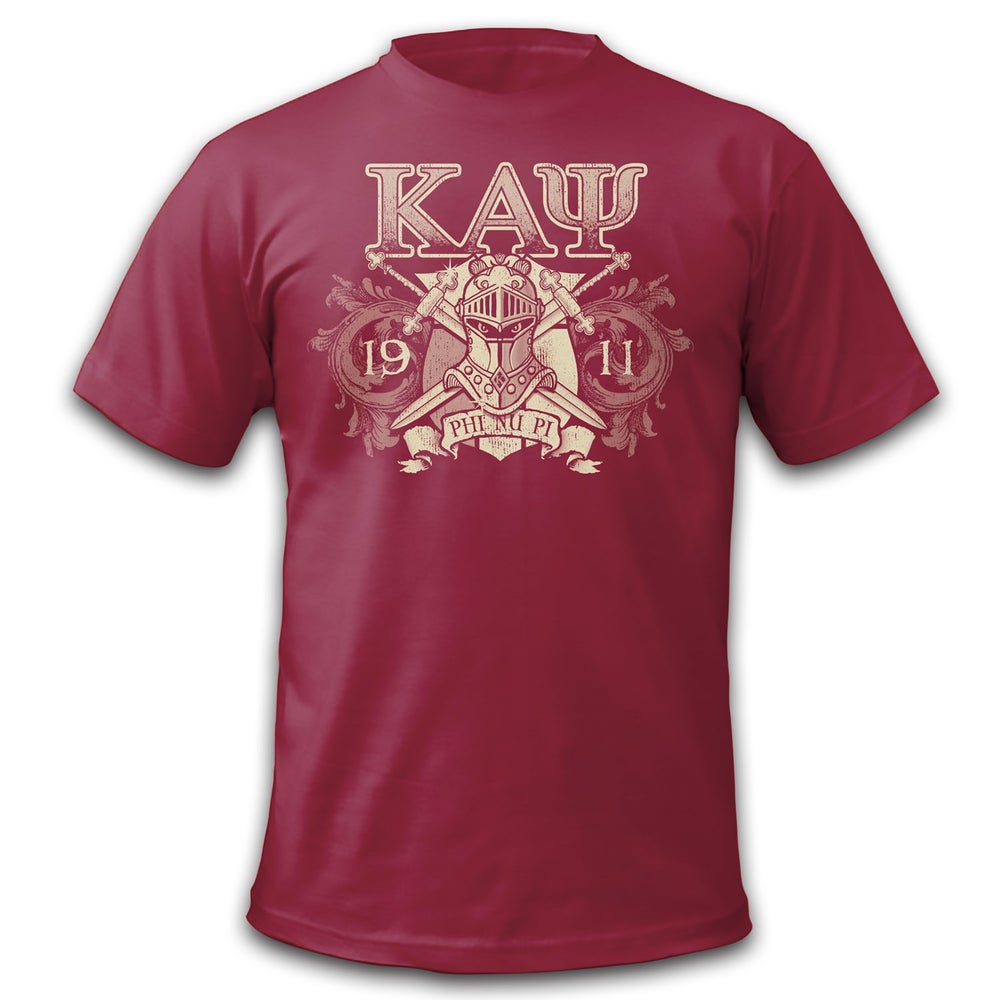 Image of Invictus T-Shirt Discharge Print (Crimson) !! CLOSEOUT!!
