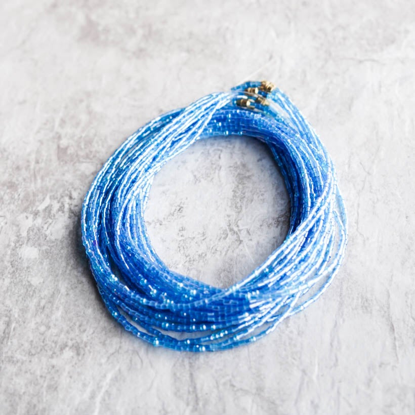 Image of Clear Blue Glass bead