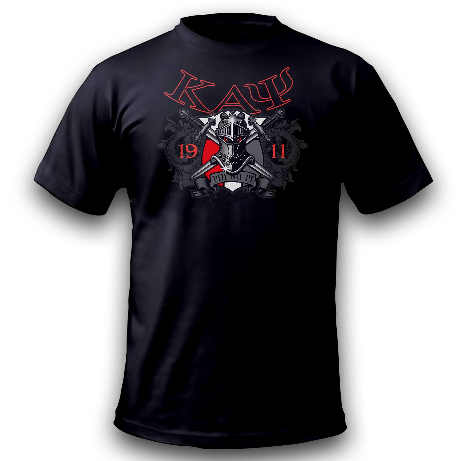 Image of INVICTUS T-SHIRT SCREEN PRINT (Black or Red)