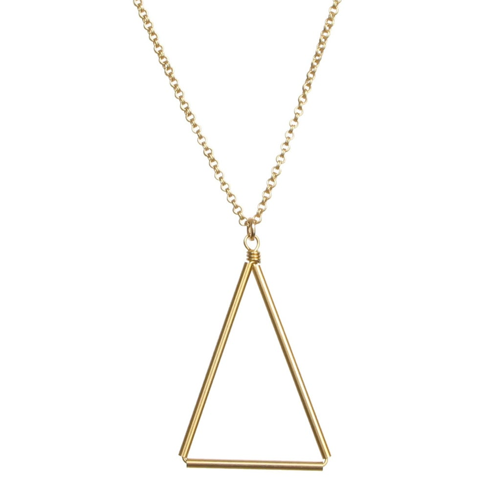 Image of Medium Triangle Necklace