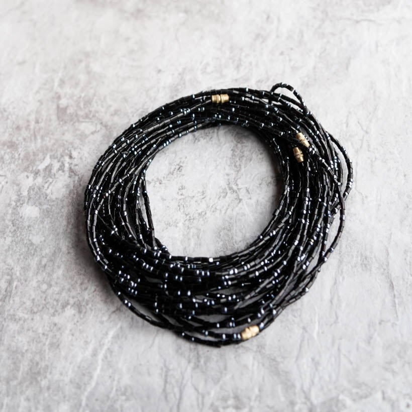 Image of Black Jewel Waist bead