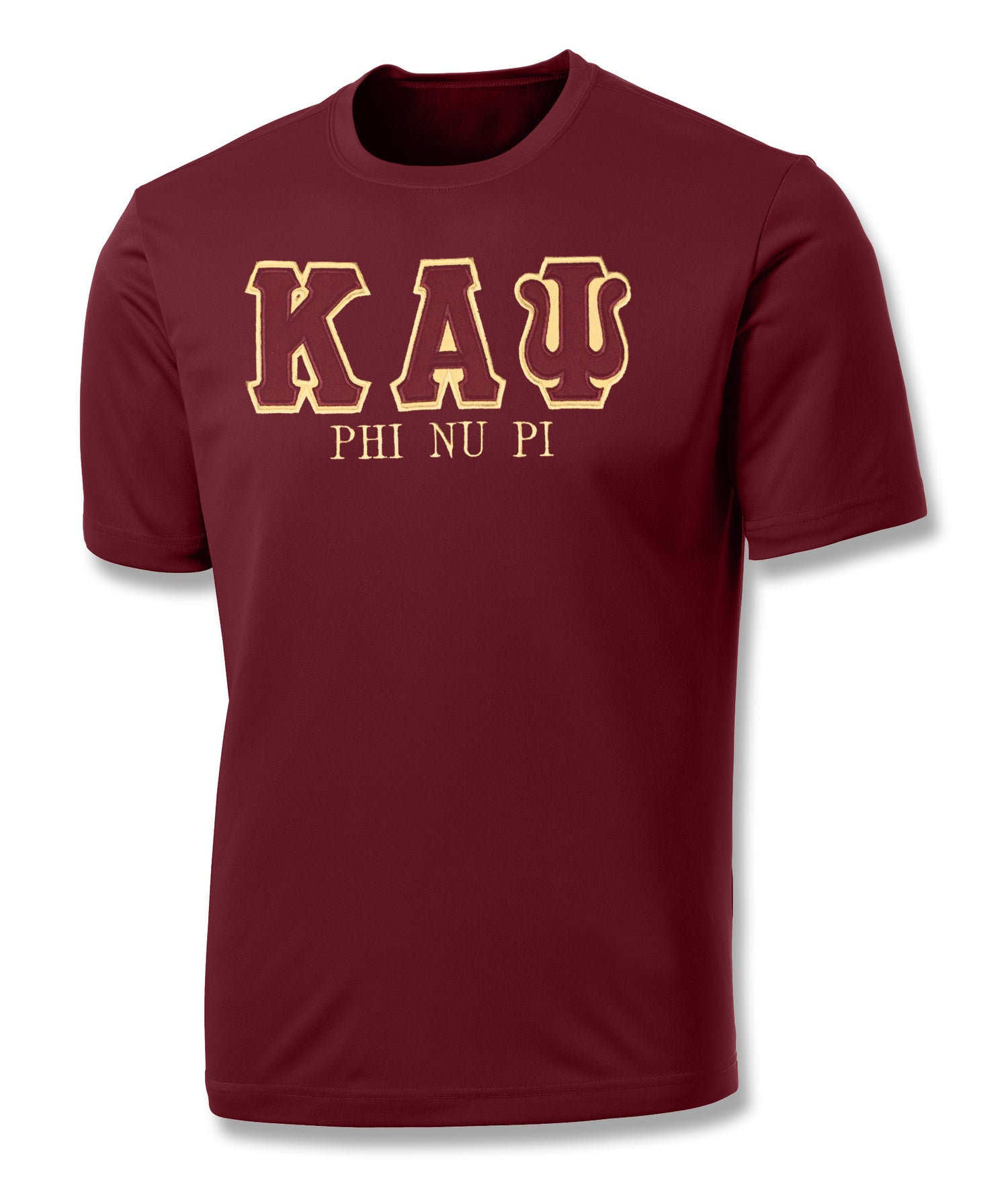 "Image of Industry First ""KAΨ"" Dry-Fit Short Sleeved Shirt (Crimson)"