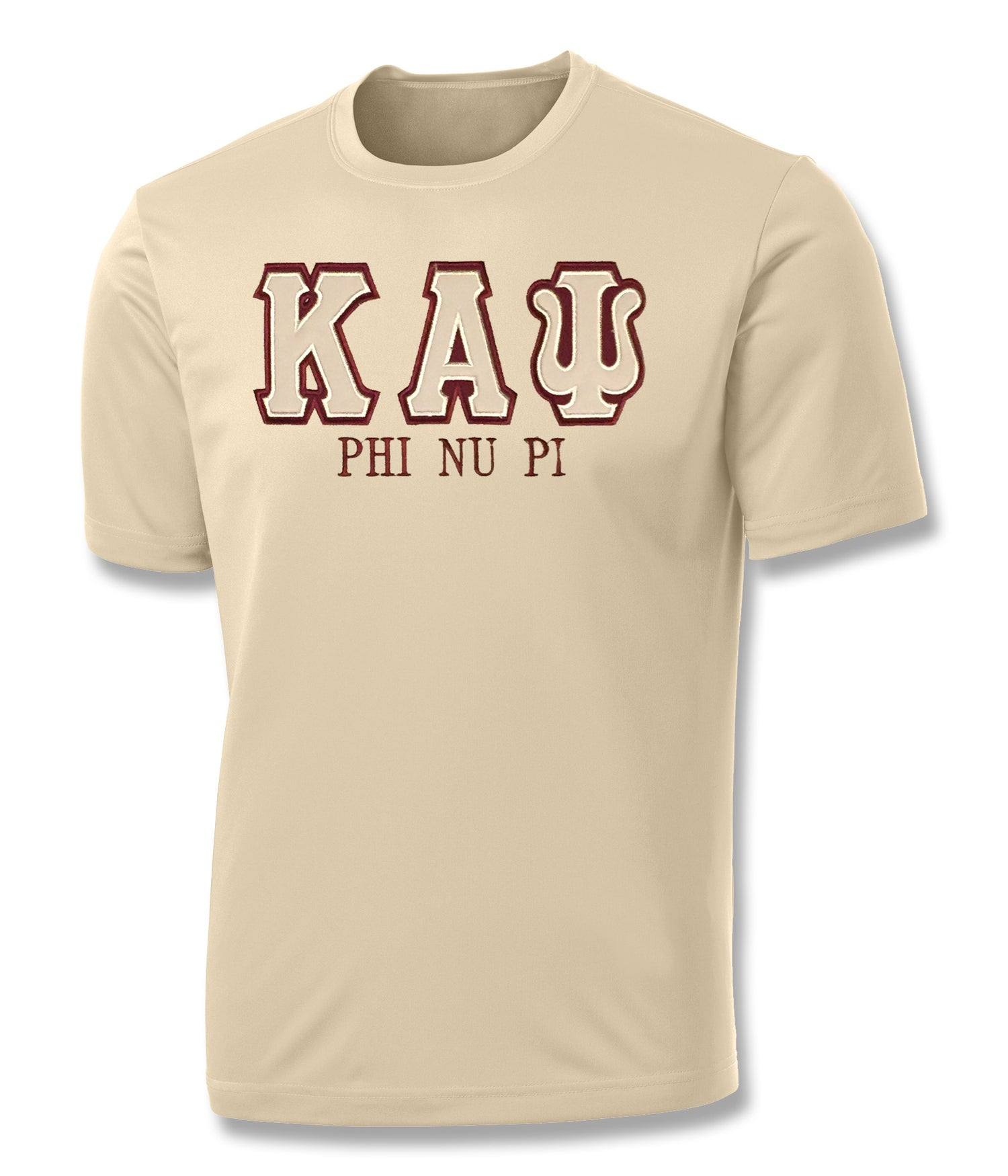 "Image of INDUSTRY FIRST ""KAΨ"" DRY-FIT SHORT SLEEVED SHIRT (CREAM)"