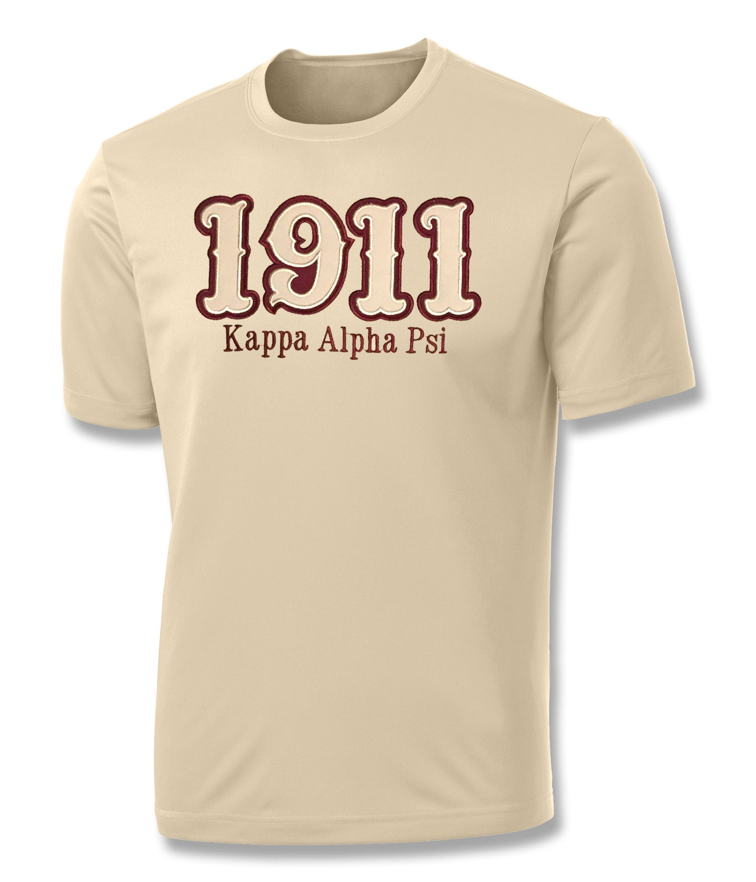 "Image of INDUSTRY FIRST - ""1911"" DRY-FIT SHORT SLEEVED SHIRT (CREAM)"