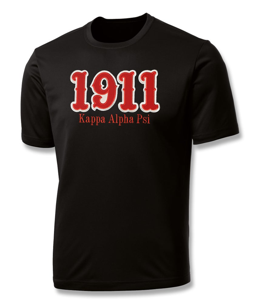 "Image of INDUSTRY FIRST - ""1911"" DRY-FIT SHORT SLEEVED SHIRT (BLACK)"