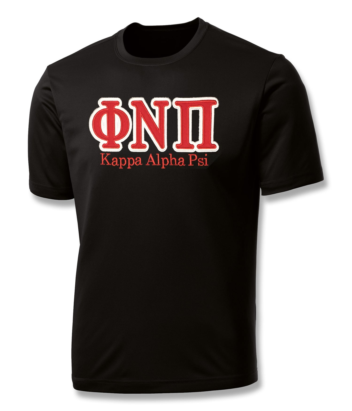 "Image of INDUSTRY FIRST - ""ΦNΠ"" DRY-FIT SHORT SLEEVED SHIRT (BLACK)"