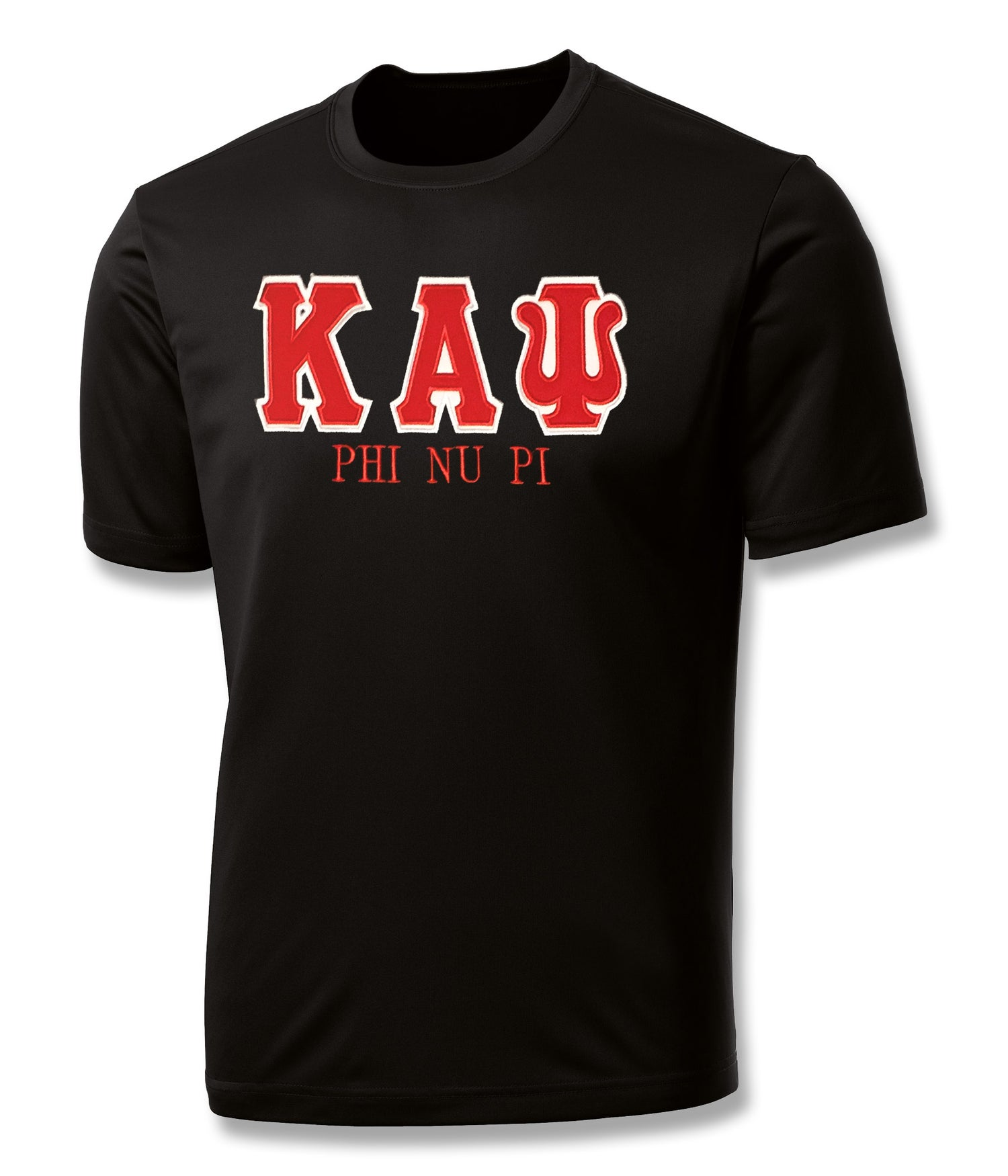 "Image of INDUSTRY FIRST ""KAΨ"" DRY-FIT SHORT SLEEVED SHIRT (BLACK)"
