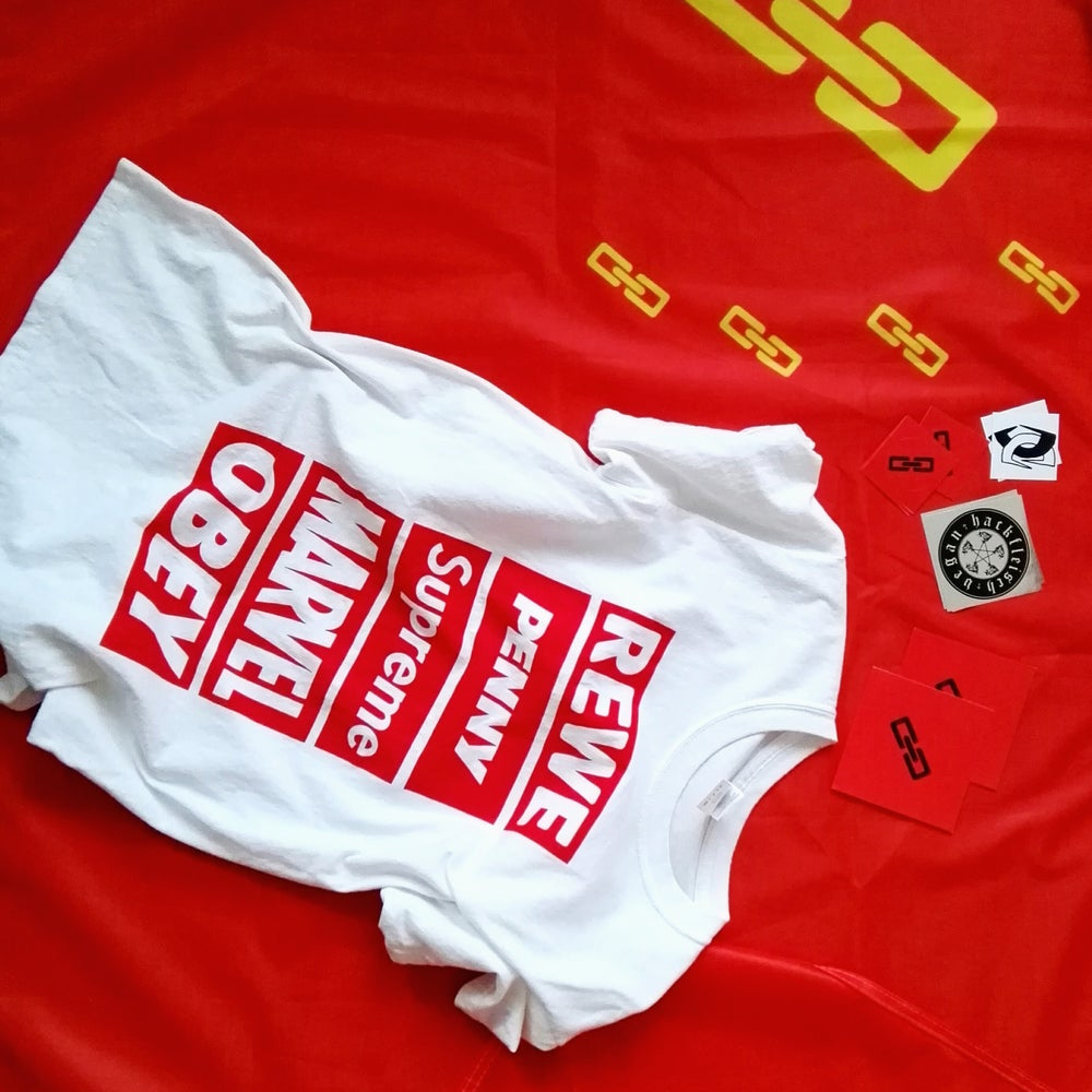 Image of Red Box Logo Shirt