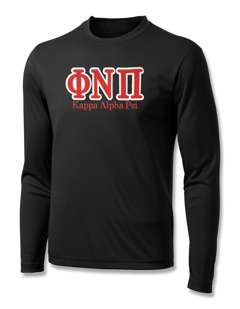 """Image of INDUSTRY FIRST - """"ΦNΠ"""" DRY-FIT LONG SLEEVED SHIRT (BLACK)"""