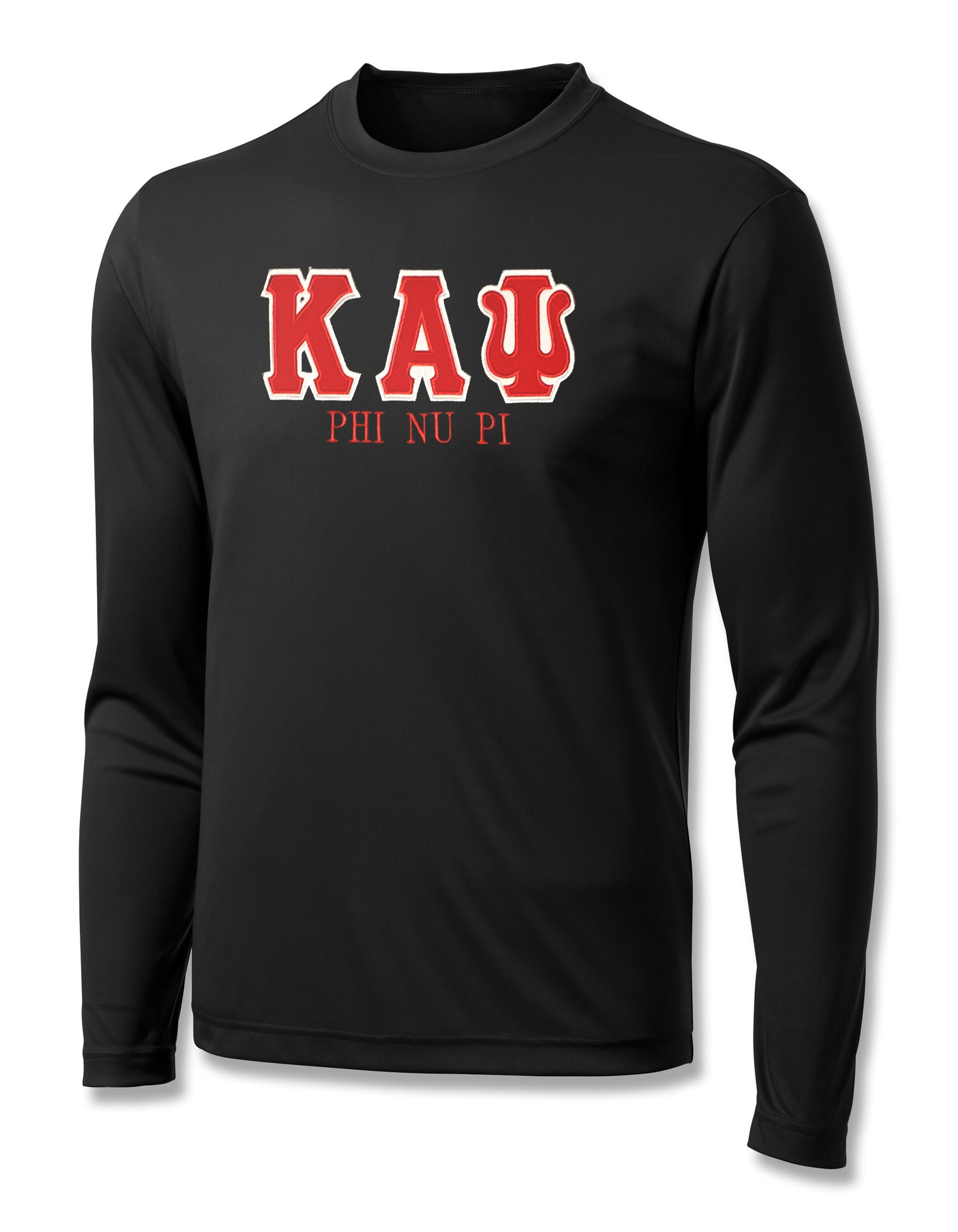"Image of INDUSTRY FIRST ""KAΨ"" DRY-FIT LONG SLEEVED SHIRT (BLACK)"