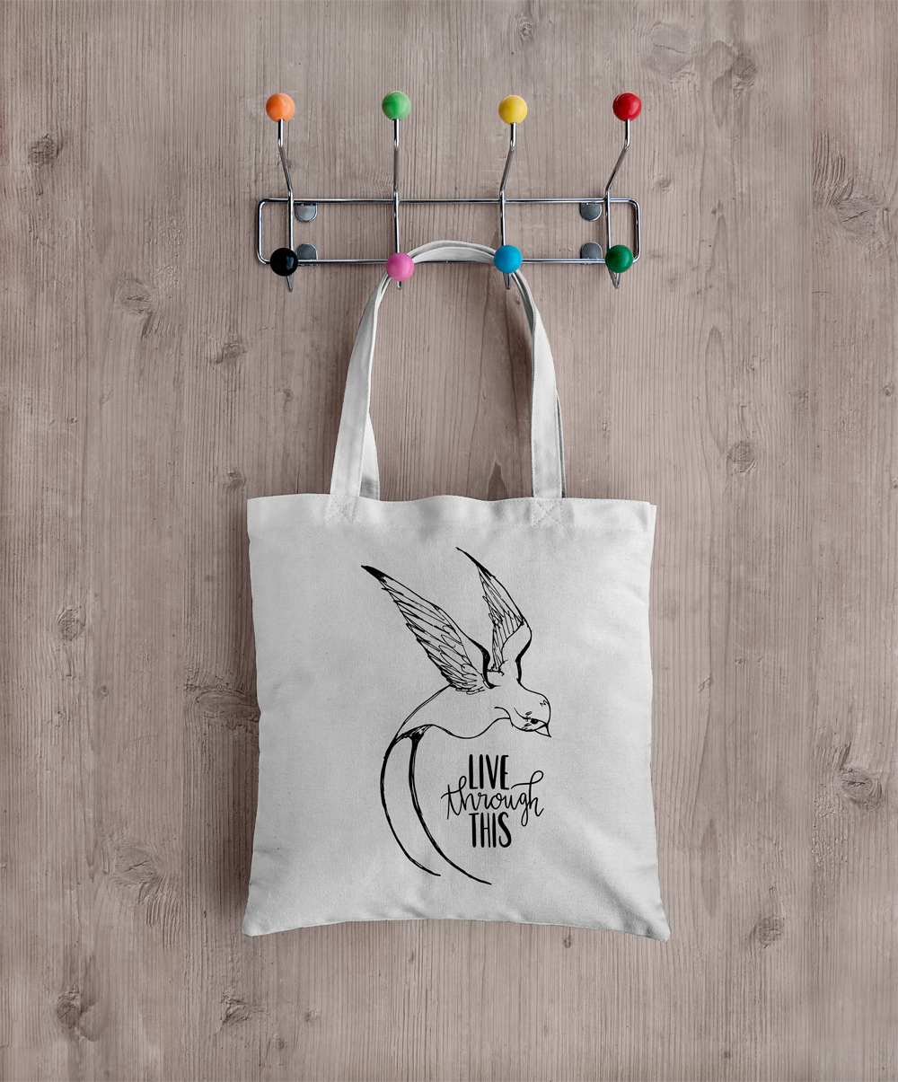 Image of Sketch Logo Tote - Natural