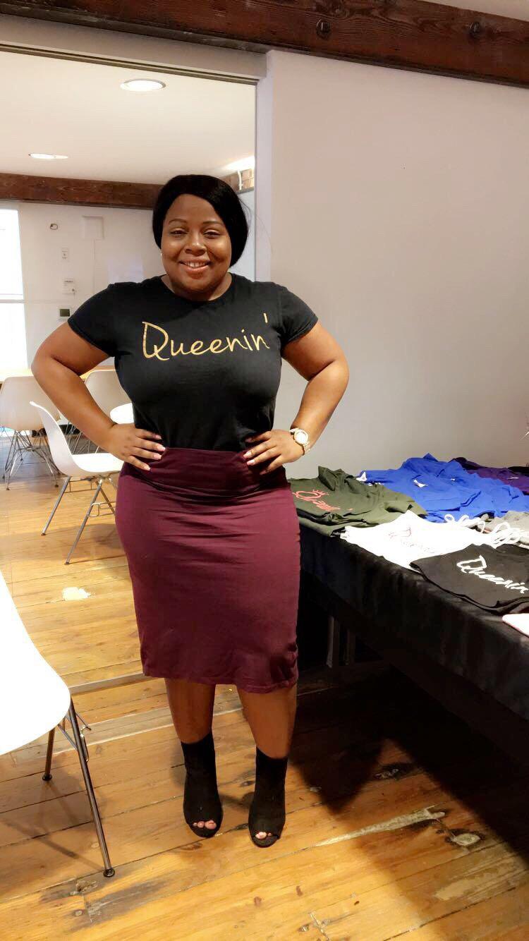 Image of Burgundy & Grey Queenin Shirt