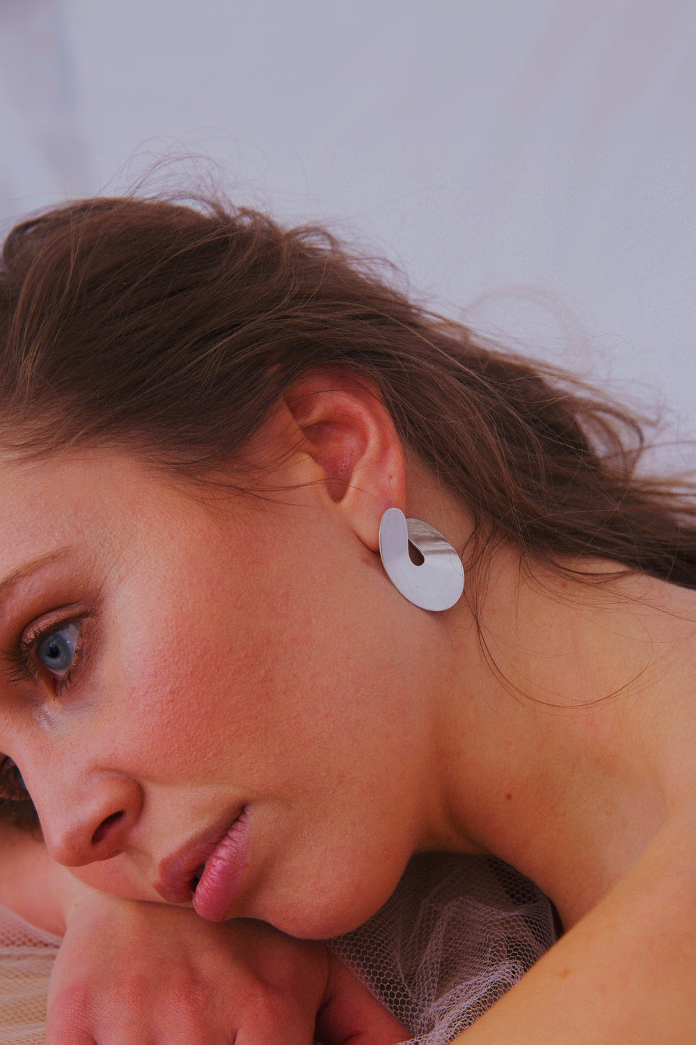 Image of Big Shiny Organic earrings