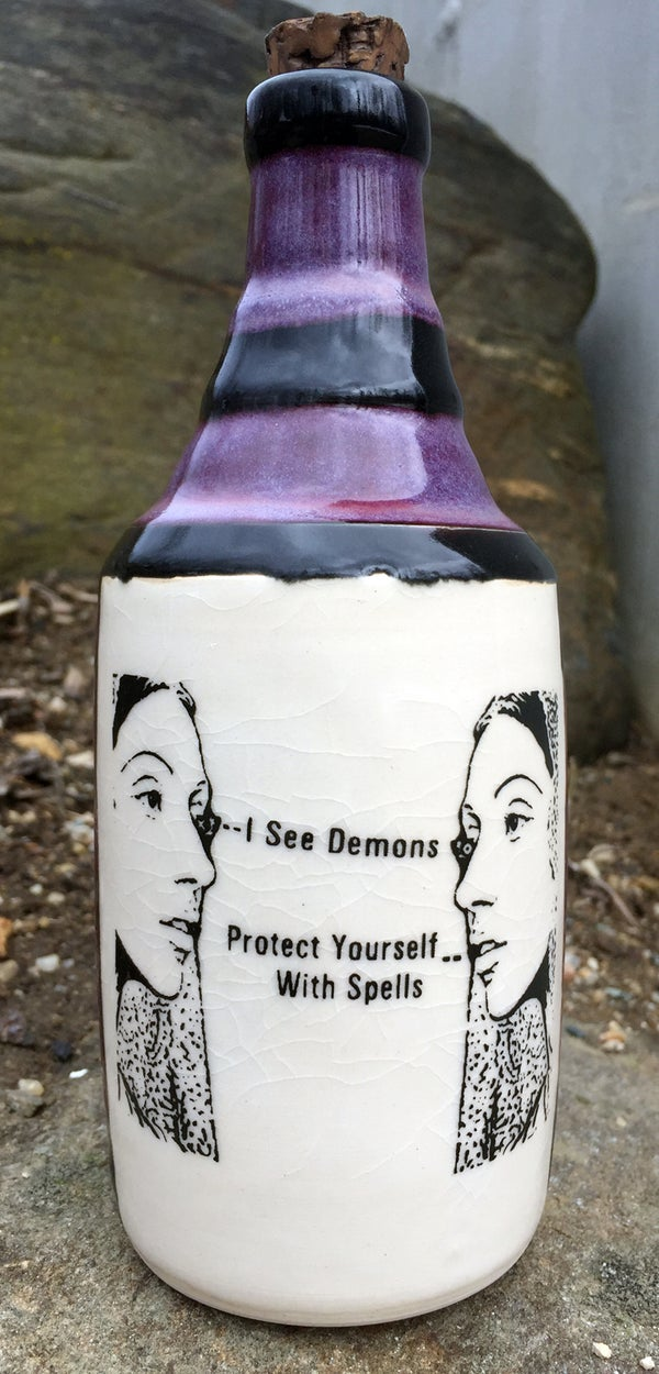 Image of Ceramic Bottle 38 - Purple Protection