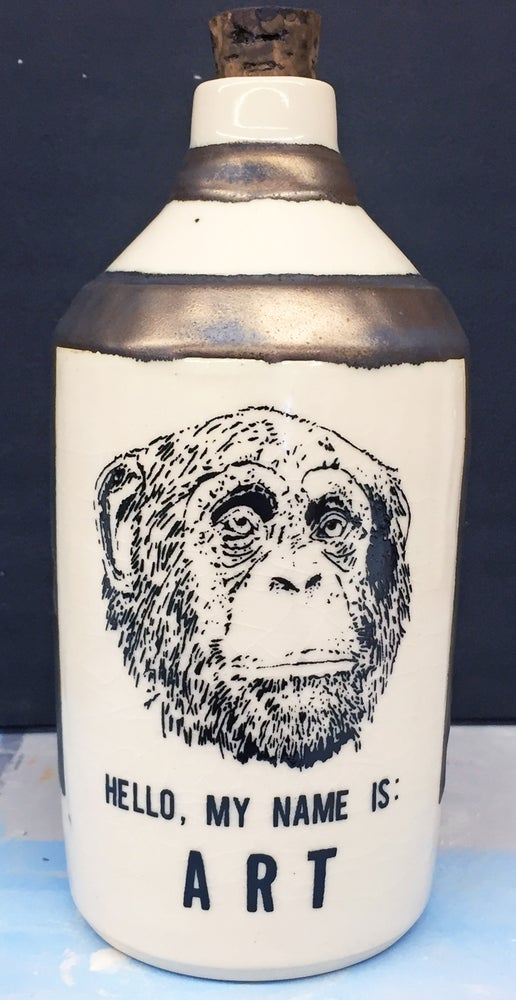 Image of Ceramic Bottle 39 - Hello!