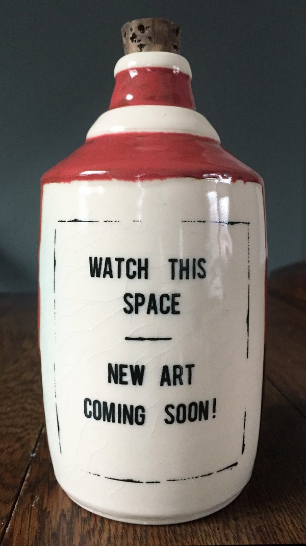 Image of Ceramic Bottle 43 - Keep Watching!