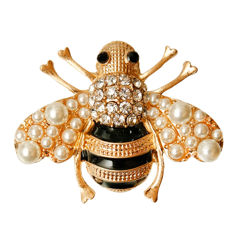 Image of Rhinestone Bee Brooch