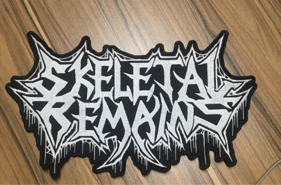 Image of Skeletal Remains Embroidered Backpatch