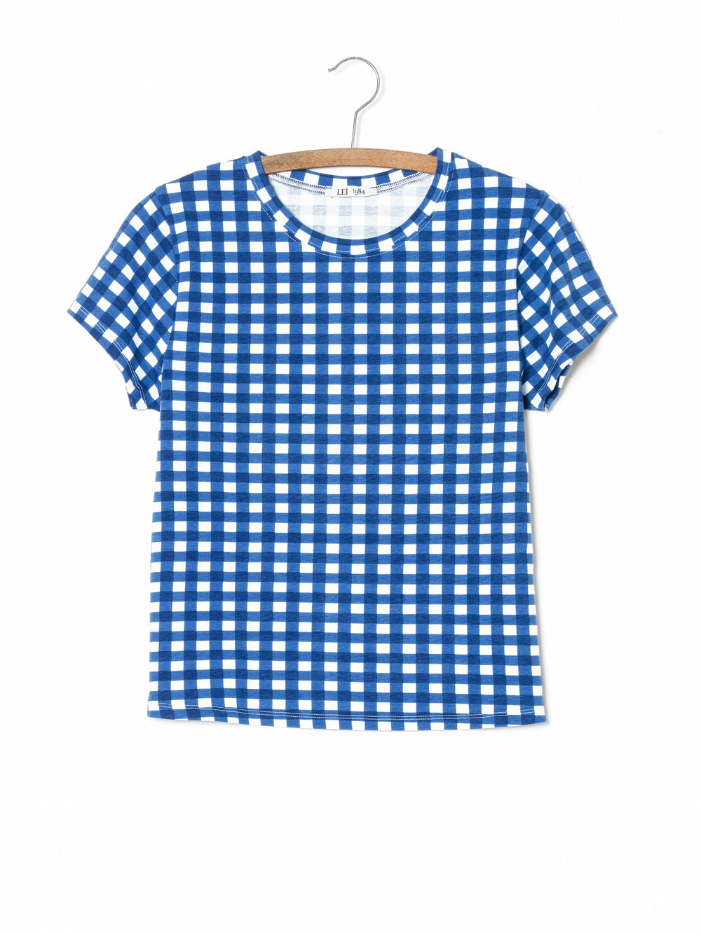 Image of Tee-shirt PRUNE imprimé vichy 55€ -50%