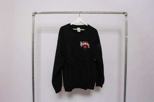 Image of smile sweater black