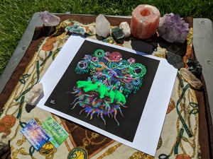 "Image of Crystal Candy Tree Island - 17"" x 13"" Print"