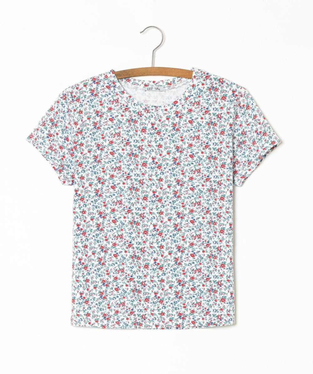 Image of Tee-shirt PRUNE imprimé liberty