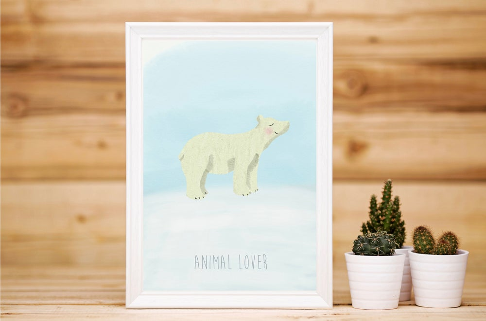 Image of Affiche Carte postale - Animal lover Ours polaire