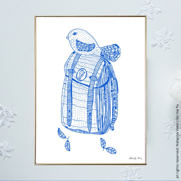 Image of Blue *Bird Backpacker*_A4