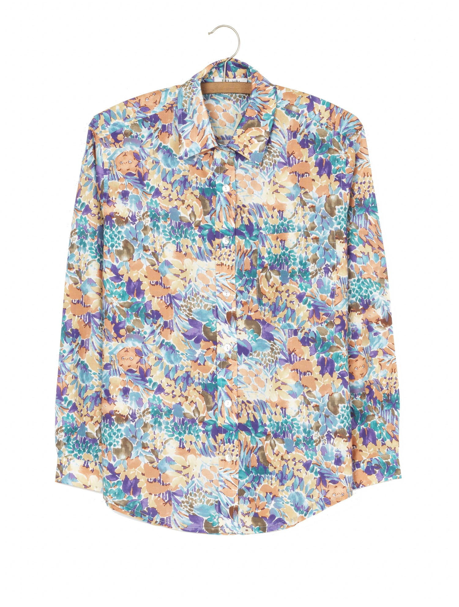 Image of Chemise LAVANDE imprimé jungle 115€ -60%