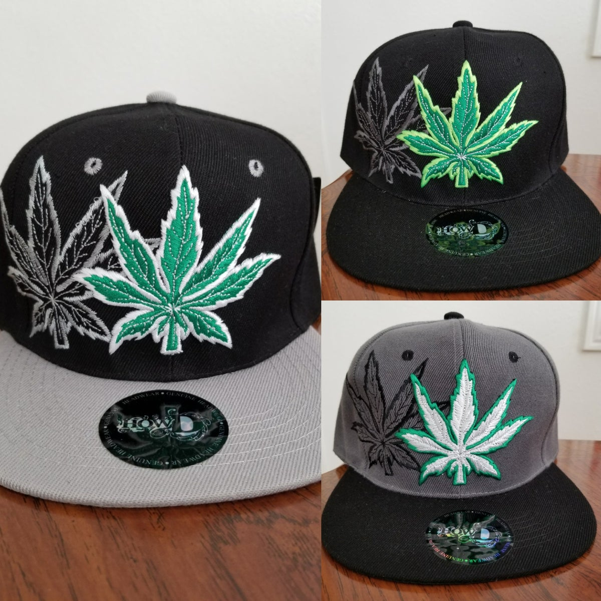 "Image of ""Marijuana Leaves"" Custom Snapback Hats"