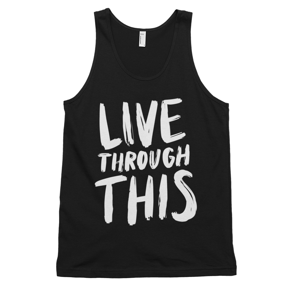 Image of Unisex Brushstroke Tank - Black