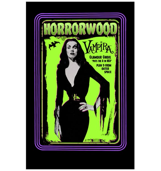 "Image of Vampira® ""Blacklight"" 11x17 poster"