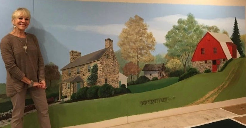 Image of 6 x 16' Mural for Food Plenty Restaurant in Clarksville, MD