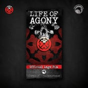 Image of Life of Agony: Official Logo Pin! FREE U.S. SHIPPING!