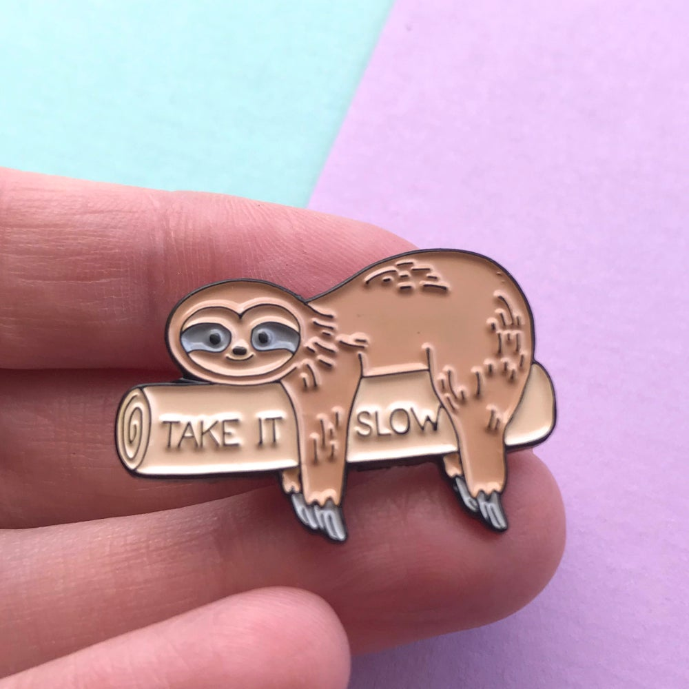 Image of Take It Slow - Sloth Enamel Pin