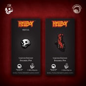 Image of Hellboy/B.P.R.D.: Hellboy and Skull enamel pin set! MONSTER FLASH SALE!