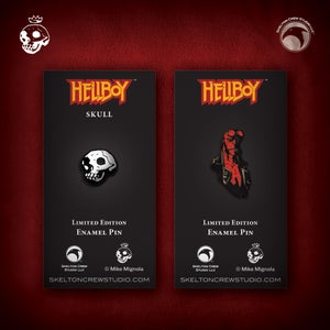 Image of Hellboy/B.P.R.D.: Hellboy and Skull enamel pin set!