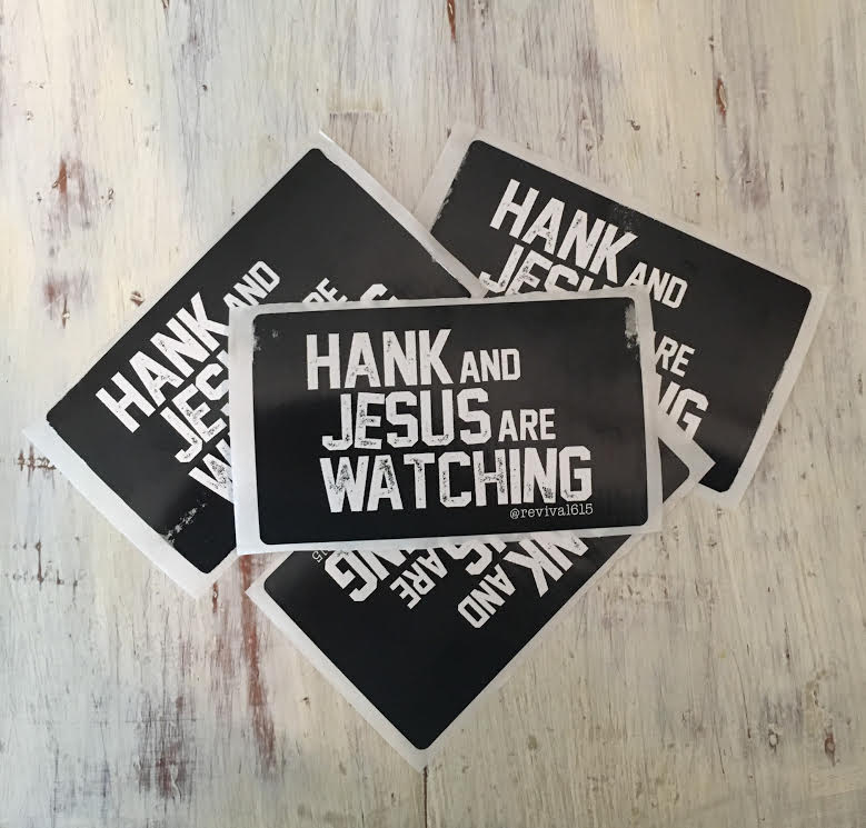 Image of Hank and Jesus Sticker!