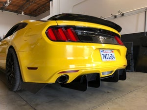 Image of 2015 - 2017 Ford Mustang S550 rear diffuser