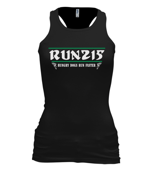 "Image of ""Hungry Dogs"" Champions Racerback Tank (WOMEN'S - BLACK)"