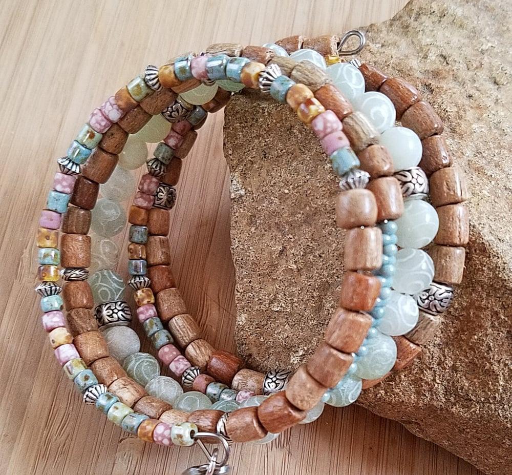 Image of Carved Jade Wrap Bracelet